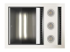 Tastic Neo Single - Bathroom Heater, Exhaust Fan & Light - White