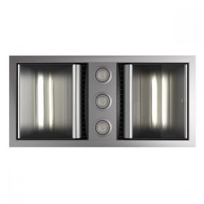 Tastic Neo Dual - Bathroom Heater, Exhaust Fan & Light - Silver